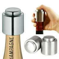New Stainless Steel Vacuum Sealed Red Wine Bottle Stopper Champagne Cap Reusable