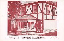 A70/ Paris Canada Postcard Ontario c1940 Wayside Salesroom Highway 2