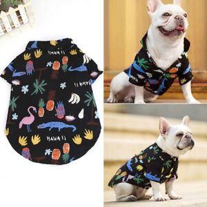 Pet Puppy Breathable Hawaiian Vacation Summer Dog Cat T-shirt Sleeveless Clothes