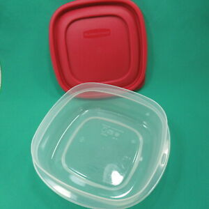 Rubbermaid Red Easy Find Lids Food Storage Container 3 Cups USA
