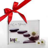Geschenkbox von tripz Kurzreisen Geschenk Idee Reise Gutschein Hotel Kurzurlaub