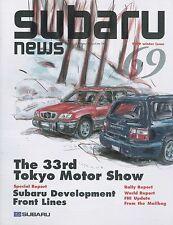 1999 SUBARU NEWS MAGAZIN 69 SAMBAR EV LEGACY FORESTER ENGLISCH