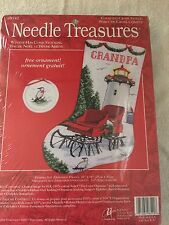 Needle Treasures Counted Cross Stitch Winter Has Come Stocking Sleigh&Lighthouse
