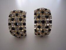 Crystal J-Hoop Earrings, never worn Paula Baker's Black and Clear