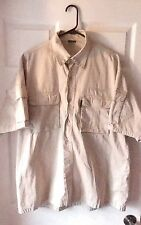 Men's Big John captain Morgan clothing extra large beige short sleeve shirt