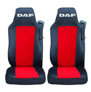 PAIR Seat Covers Black RED for DAF CF XF 106 EURO 6 Truck Tailored Lorry RHD