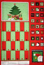 Christmas Fabric - Advent Calendar Happy Holly Days Santa SSI #68047 - PANEL