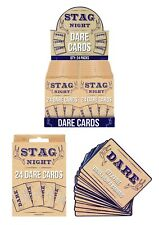 24 Stag Party Dare Cards Stag Night Do Party Games Hen Accessories A pack of Fun