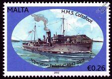 HMS COLTSFOOT (K140) Flower Class Corvette Warship WWII Malta Convoys Stamp