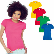 Fruit of the Loom Damen Sofspun T-Shirt T Shirts  XS S M L XL XXL