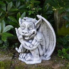 Große massive Steinfigur Gargoyle - Der Spinner Torwächter Steinguss frostfest