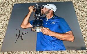 Dustin Johnson Signed 8x10 Photo 2016 US Open Oakmont Win with proof