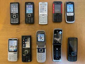 10 x Nokia Retro Dummy Mobile Phones Job Lot 6600 6500 6300 2630 C3-01 5310 2760