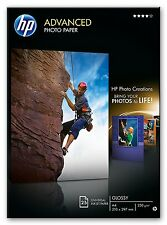 HP ADVANCED A4 GLOSSY GLOSS INKJET PHOTO PAPER 250 GSM 25 SHEETS Q5456A NEW