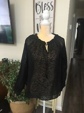 Arden B Sheer Black Blouse Size M