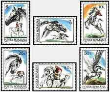 Timbres Chevaux Roumanie 3997/4002 ** lot 17087