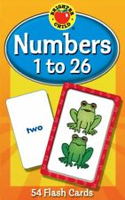 Numbers Flash Cards 1 to 26 Brighter Child KIDS Counting Reading Learning Games