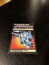 Vintage G1 TRANSFORMERS Paperwork: Mirage Instructions