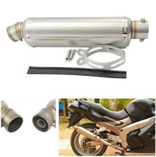 38-51 mm Stainless steel Motorcycle Exhaust Muffler Pipe For Yamaha Suzuki Honda