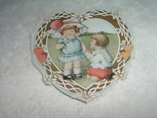 Valentine Heart Girl in Bonnet Poem Victorian by Whitney Made