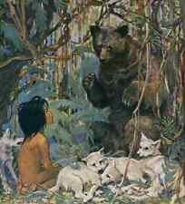 A4 Photo Willcox Smith Good Housekeeping Oct 1923 Mowgli Print Poster