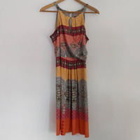 Valerie Bertinelli Dress Floral Sleeveless Size 12 Women's Preowned