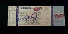 Cal Ripken Jr. signed 2000th game unused ticket - vintage auto- Ripken COA