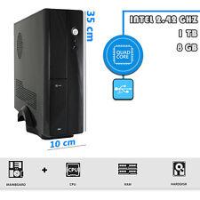 PC MINI DESKTOP COMPUTER FISSO Intel QUAD CORE 2.42 GHZ RAM 8GB HD 1TB USB 3.0