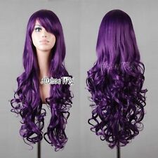 Long Womens Ladys Anime Curly Wavy Hair Wig Cosplay Wigs Full Wigs Party Costume