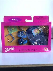 1999 Barbie Fashion Avenue Etc Gear - Demin Shoes Sunglasses Handbag #25751 NIB