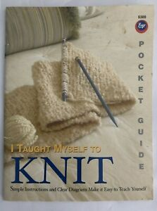 I Taught Myself To Knit Pocket Guide By Boye. Book ONLY