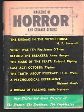 MAGAZINE OF HORROR # 4 HP LOVECRAFT THE DREAMS IN THE WITCH HOUSE 1964 KIPLING