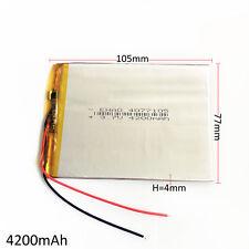 4200mAh 3.7V Lipo Battery Polymer For power bank mobile phone tablet pc 4077105