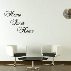 Home Sweet Home Large Vinyl Wall Quote Vinyl Decor Big Vinyl Quote QU11