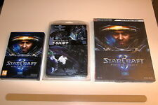 JEU PC STARCRAFT II WINGS OF LIBERTY COMPLET + T-SHIRT TAILLE S + GUIDE OFFICIEL