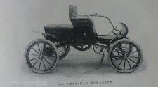 Essence Landaulette pneus Racer Old Antique AUTOMOBILE photo de l'article 1904 Mayhew