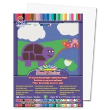 SunWorks Construction Paper 9X12 Bright White 50 Sheets
