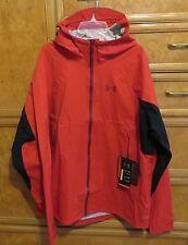 Men's Under Armour storm red black full zip waterproof jacket hood L NWT $199.99