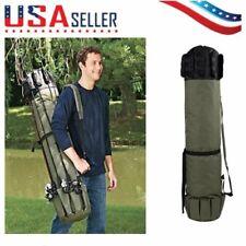 Fishing Rod Bag Pole Case Carry Shoulder Tackle Tube Portable Travel Holder U
