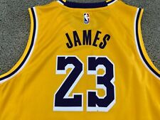 Nike Lebron James Los Angeles Lakers Jersey sz youth boys XL 18/20 Yellow NWT