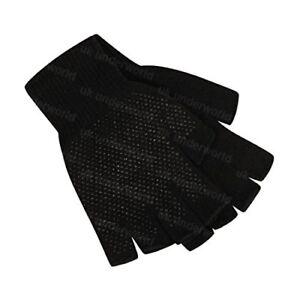 Childrens Boys Girls Black Magic Stretch Fingerless Half Finger Gripper Gloves