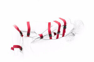 Red 7 Pieces Full Body BDSM Belt Fantasy Lover Roleplay Restraint for Couples