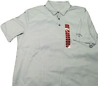 Callaway Mens Polo Shirt Adult XL Gray Silver Lightweight Golf Rugby - NWOT