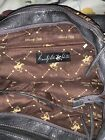 """BEVERLY HILLS POLO CLUB Charcoal Leather Shoulder Hand Bag 18"""" Wide 12 """"Tall"""