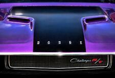 13x19 1970 Dodge Challenger R/T Print 440 Magnum 383 426 HEMI Plum Crazy Purple