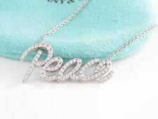 Tiffany & Co  RARE 18K White Gold Picasso Peace Diamond Necklace