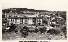 Postcard RPPC Wellington Harbour from Parliament Buildings New Zealand