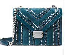 🌺🌹Michael Kors Whitney Embellished Shoulder Bag Teal/Silver Original Packaging