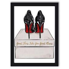 Fashion Art Wall Art Fashion Print Typography Art Designer Shoes Louboutin