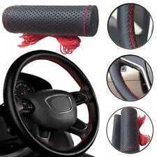 38cm Real Leather DIY Car Steering Wheel Cover Auto Protection Needle Universal